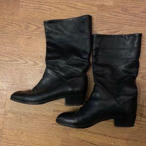 Della leather mid calf boots